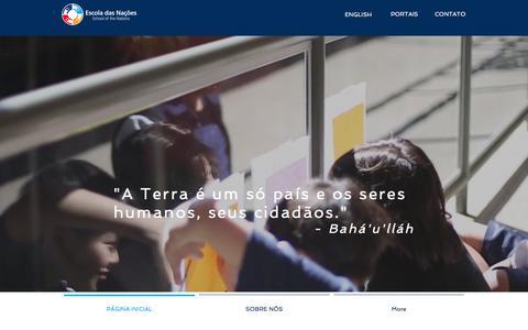 Screenshot of Home Page escoladasnacoes.com.br - Escola Internacional em Brasília   Brazil   Escola Das Nações - captured Oct. 6, 2017
