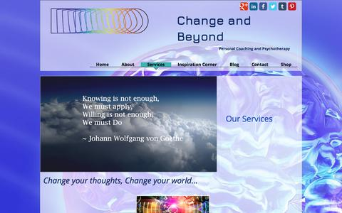 Screenshot of Services Page changeandbeyond.com - Change and Beyond Services - captured July 24, 2017