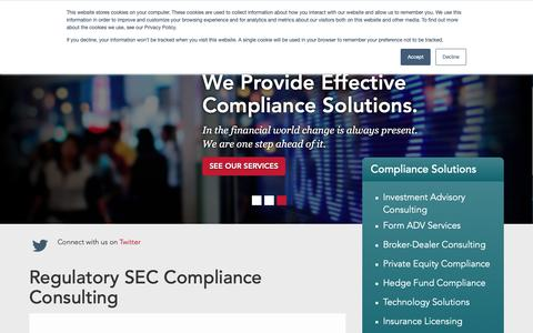 Screenshot of Home Page corecls.com - Regulatory SEC Compliance Consulting | CCLS - captured Nov. 11, 2018