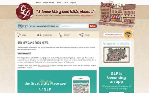 Screenshot of Signup Page Login Page greatlittleplace.com - GLP App | I know this great little place... - captured Dec. 13, 2015