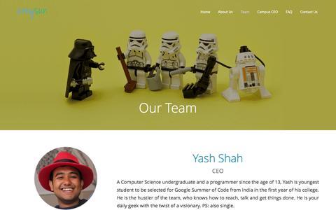 Screenshot of Team Page areysun.com - Our Team - captured Nov. 2, 2014