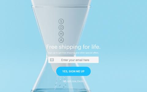 Screenshot of Privacy Page drinksoma.com - Soma: Makers of Beautiful, Sustainable Water Filters. - captured Nov. 9, 2015