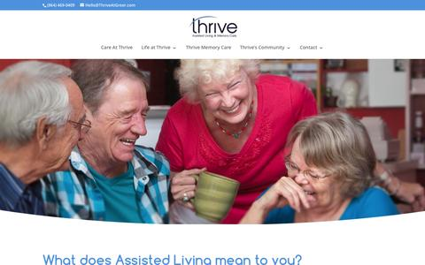Screenshot of Home Page villageatgreer.com - ThriveSL | Assisted Living and Memory Care - captured Feb. 28, 2016