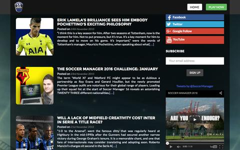 Screenshot of Blog soccermanager.com - Soccer Manager 2016 Football Blog - captured Nov. 24, 2015
