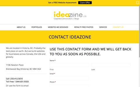 Contact Us - IdeaZone.ca