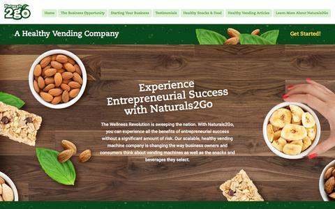 Screenshot of Home Page naturals2go.com - Healthy Vending Machine Company   Healthy Vending Company   Naturals2Go Healthy Vending - captured July 28, 2017