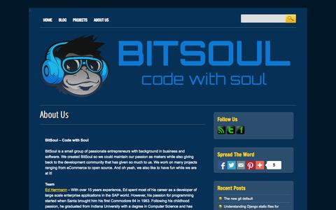 Screenshot of About Page bitsoul.com - BitSoul | About Us - captured Oct. 5, 2014