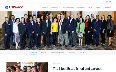 Screenshot of About Page uspaacc.com - About USPAACC | USPAACC - captured Oct. 2, 2018