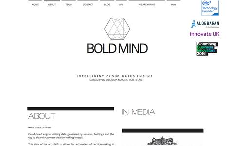 Screenshot of About Page boldmind.co.uk - Boldmind, internet of things - captured May 31, 2017