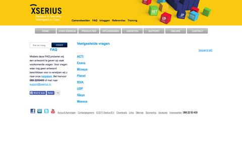 Screenshot of FAQ Page xserius.nl - Frequently Asked Questions | Xserius - captured Oct. 27, 2014