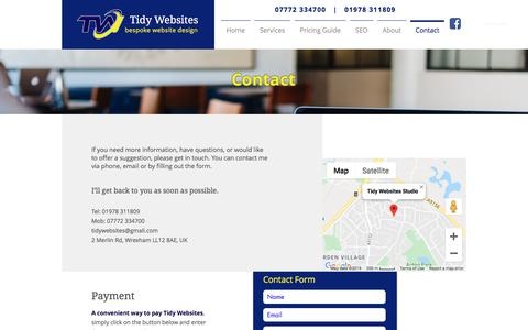 Screenshot of Contact Page tidywebsites.co.uk - Contact | Tidy Websites 1119 - captured Nov. 10, 2019