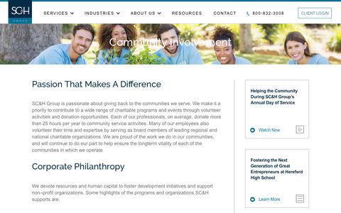 Community Involvement | SC&H Group