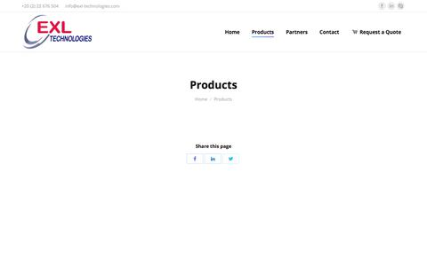Screenshot of Products Page exl-technologies.com - Products | EXL Technologies - captured July 15, 2018
