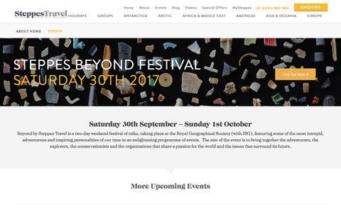 Beyond - Steppes Travel Festival - 2017