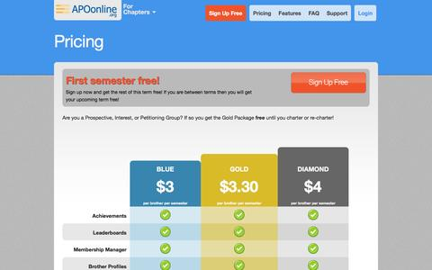 Screenshot of Pricing Page apoonline.org - APOonline.org - Pricing - captured May 28, 2017