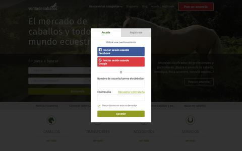 Screenshot of Login Page ventadecaballos.es - Venta de Caballos y Ponis en España - captured Sept. 30, 2018