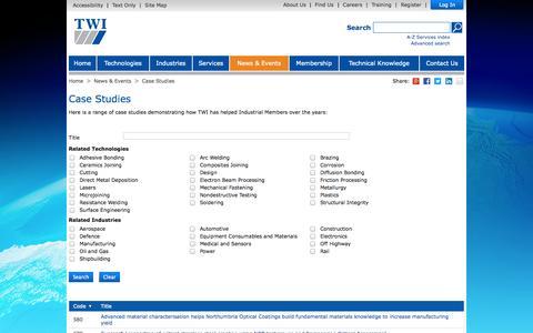 Screenshot of Case Studies Page twi-global.com - Case Studies - captured Oct. 10, 2014
