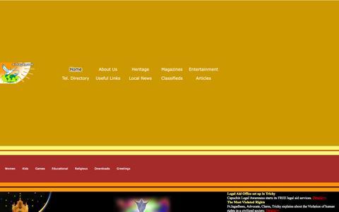 Screenshot of Home Page azhagai.com - Welcome to Worldwide Azhagai.Com - captured Oct. 10, 2015