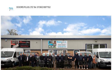 Screenshot of Home Page doorsplusltd.co.uk - DOORS PLUS LTD Tel: 01362 697152 - captured July 15, 2019