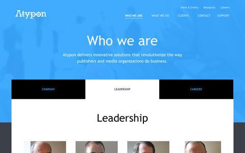 Screenshot of Team Page atypon.com - Atypon - captured Nov. 5, 2014