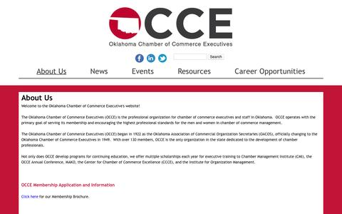 Screenshot of About Page occe.com - About Us   Oklahoma Chamber of Commerce Executives - captured March 15, 2016