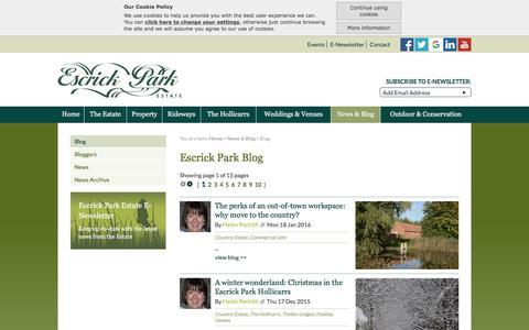 Screenshot of Blog escrick.com - Blog:: Escrick - Country Estate, Commercial Property to Let Yorkshire - captured Jan. 30, 2016
