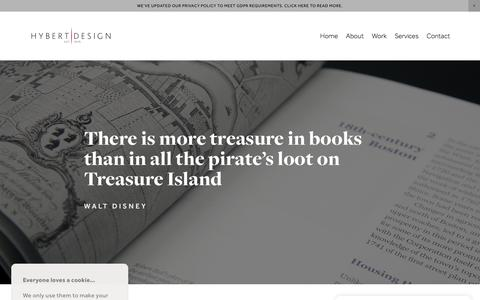 Screenshot of Services Page hybertdesign.com - Hybert Design — Books - captured July 24, 2018