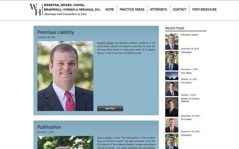 Screenshot of Blog websterhenry.com - Recent News and Highlights | Webster, Henry, Lyons, Bradwell, Cohan... - captured Dec. 3, 2016