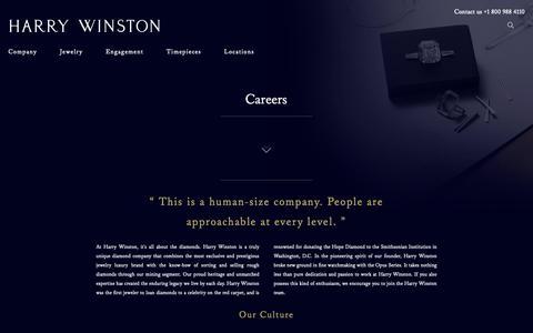 Screenshot of Jobs Page harrywinston.com - Careers   Harry Winston - captured Nov. 4, 2018