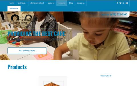 Screenshot of Products Page excellentmontessori.org - Montessori Educational Products - Check Out Our Educational Products In Lithonia   Excellent Montessori - captured Sept. 30, 2018