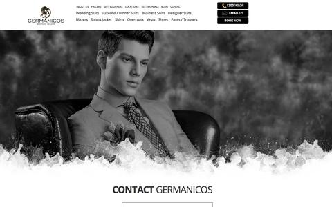 Book an Appointment Today | Call Germanicos Bespoke Tailors