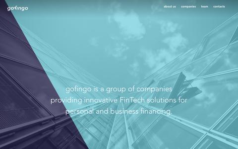 Screenshot of Team Page gofingo.com - Innovative FinTech - gofingo - captured Oct. 10, 2018