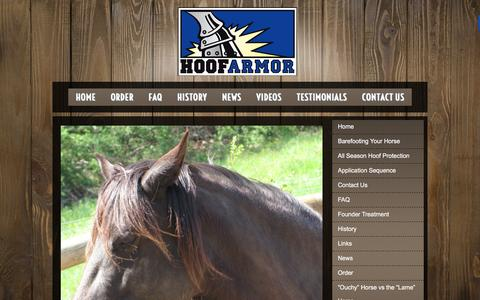 Screenshot of Testimonials Page hoofarmor.com - Testimonials - Hoof Armor - captured Jan. 31, 2016