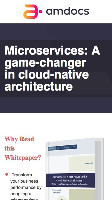 amdocs digitaL ONE, Microservices: A game-changer in cloud-native architecture