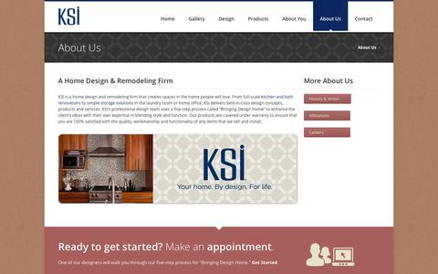Screenshot of About Page ksikitchens.com - Southwest MI & Northwest OH Home Design & Remodeling | KSI - captured Oct. 6, 2014