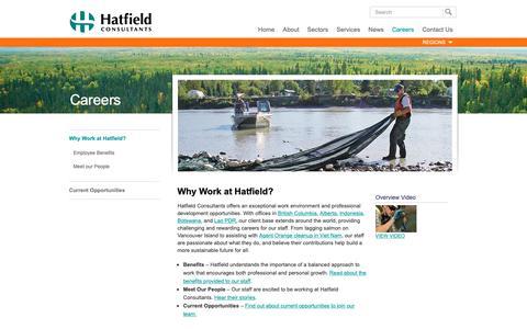 Screenshot of Jobs Page hatfieldgroup.com - Why Work at Hatfield? - Hatfield Consultants - captured Sept. 27, 2018