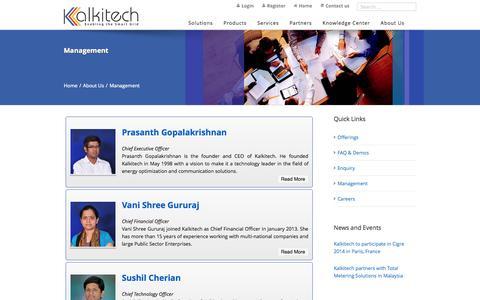 Screenshot of Team Page kalkitech.com - Kalkitech management | Kalkitech - captured Sept. 30, 2014