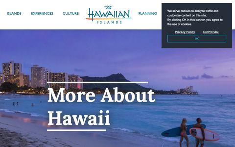 Screenshot of FAQ Page gohawaii.com - Frequently Asked Questions About Traveling to Hawaii | Go Hawaii - captured Dec. 8, 2018