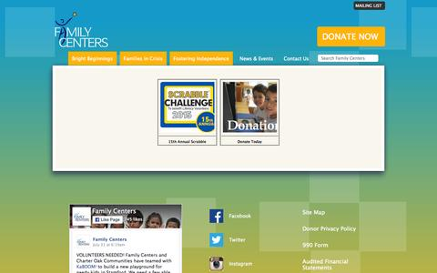 Screenshot of Products Page familycenters.org captured Aug. 3, 2015