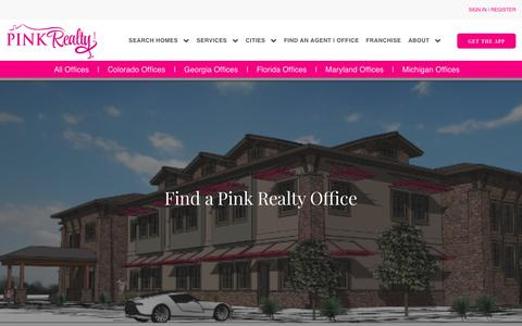 Screenshot of Contact Page pinkrealty.com - agents | Pink Realty Headquarters - captured July 18, 2018