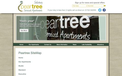 Screenshot of Site Map Page peartreeapartments.co.uk - Sitemap - captured Oct. 2, 2014