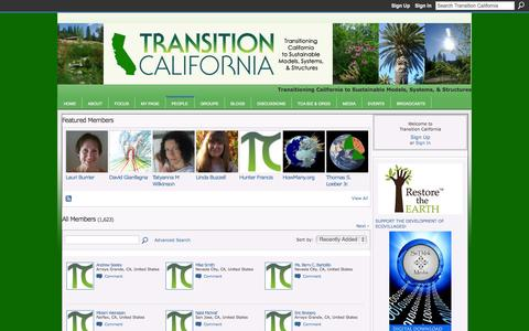 Screenshot of Team Page transitiontownsca.org - Members - Transition California - captured Oct. 7, 2014