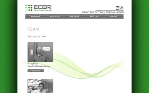 Screenshot of Team Page ecertechnologies.com - Ecer Technologies - Team - captured Sept. 30, 2014