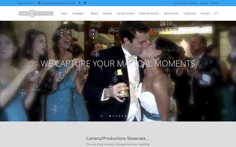 Screenshot of Home Page camera2productions.com - Home - Camera2Productions Event Videography - captured Sept. 27, 2014