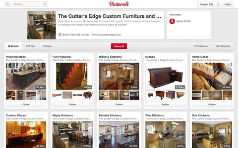 Screenshot of Pinterest Page pinterest.com - The Cutter's Edge Custom Furniture and Kitchens on Pinterest - captured Oct. 25, 2014