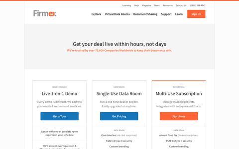 Screenshot of Signup Page firmex.com - Get Started - captured Feb. 4, 2016
