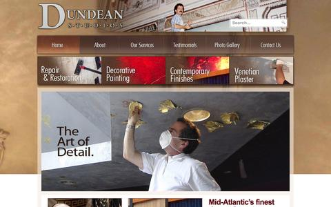 Screenshot of Home Page dundeanstudios.com - Dundean Studios - To beautify our surroundings is a necessity, not an option. - captured Sept. 30, 2014