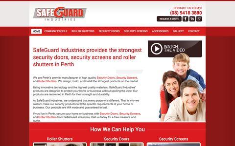Screenshot of Home Page safeguardindustries.com.au - Wide range of security doors in Perth - captured Dec. 20, 2015
