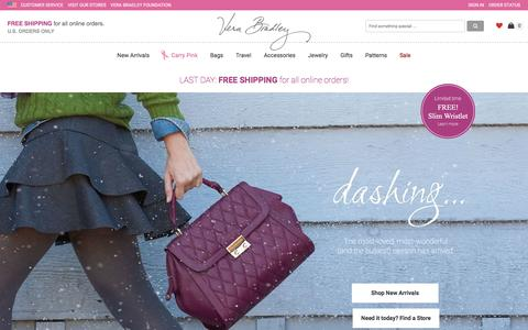 Screenshot of Home Page verabradley.com - Bags, Handbags, Purses, Backpacks | Vera Bradley - captured Oct. 22, 2015