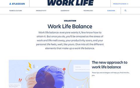 Screenshot of Blog atlassian.com - Work Life Balance Archives - Work Life by Atlassian - captured Feb. 8, 2020